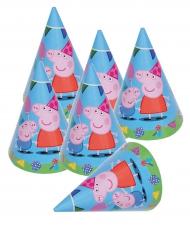 6 Chapeaux de fête Peppa Pig™ 16 x 11 cm