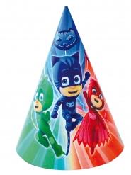 6 Chapeaux de fête Pyjamasques™ 16 x 11 cm