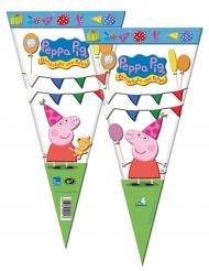 6 Sachets de fête Peppa Pig™ 20 x 40 cm