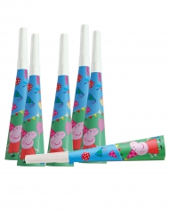 6 Trompettes en carton Peppa Pig™