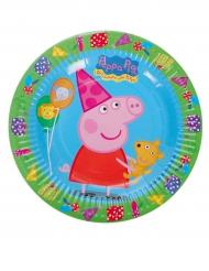 8 Petites assiettes en carton Peppa Pig™ 18 cm