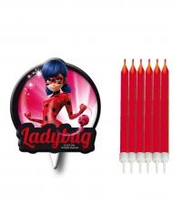 Bougies d'anniversaire avec silhouette Ladybug™