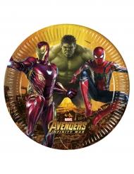 8 Assiettes Avengers Infinity War™ 23 cm