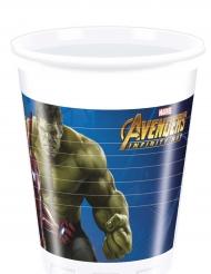 8 Gobelets plastique Avengers Infinity War™ 200 ml