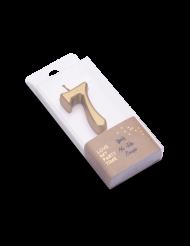 Bougie d'anniversaire chiffre 7 doré métallisé 4,3 cm
