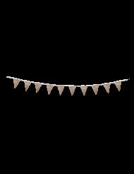 Guirlande fanion Joyeux Anniversaire kraft et or 3 m