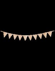 Guirlande 10 fanions 18 ans multicolore et doré 22 x 27 cm x 3 m