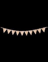 Guirlande 10 fanions 20 ans multicolore et doré 22 x 27 cm x 3 m