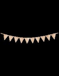 Guirlande 10 fanions 30 ans multicolore et doré 22 x 27 cm x 3 m