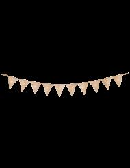 Guirlande 10 fanions 40 ans multicolore et doré 22 x 27 cm x 3 m