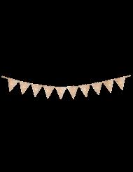 Guirlande 10 fanions 60 ans multicolore et doré 22 x 27 cm x 3 m