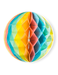 3 Boules en papier alvéolé Berlingot 15, 20 et 25 cm