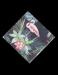 16 Serviettes en papier Flamants roses tropical 33 x 33 cm