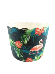 25 Moules à cupcakes Flamants roses tropicaux 6 cm
