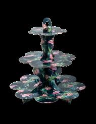 Présentoir en carton 3 étages Flamants roses tropical 34 cm