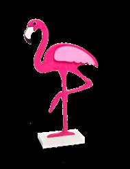Flamant rose à poser en bois 17 cm