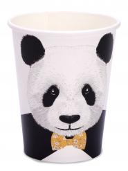 8 Gobelets en carton Panda 255 ml