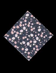 16 Serviettes en papier Lovely Flowers bleu marine 33 x 33 cm