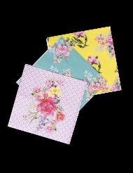 18 Serviettes en papier Tea Time 3 modèles 33 x 33 cm