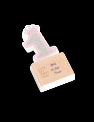 Bougie d'anniversaire chiffre 1 Princesse 5,8 cm