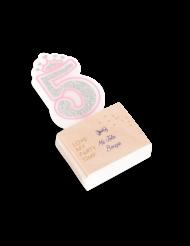 Bougie d'anniversaire chiffre 5 Princesse 5,8 cm