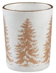 Photophore en verre Sapin de Noël doré 6,7 cm