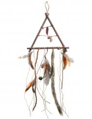 Attrape rêves en bois d'Automne naturel 24 x 72 cm