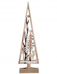 Sapin décoratif en bois naturel 30 cm
