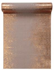Chemin de table en coton cuivré métallisé 28 cm x 3 m
