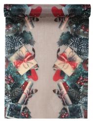 Chemin de table en tissu Décor de Noël 30 cm x 5 m