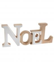 Lettres en bois Noël blanc et bois naturel 22 x 2 x 9 cm