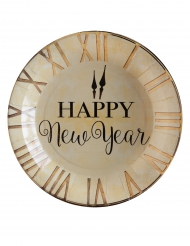 10 Assiettes en carton Happy New Year 23 cm