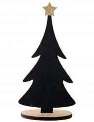 Décoration en bois Le sapin noir personnalisable 10 x 5,5 x 22 cm