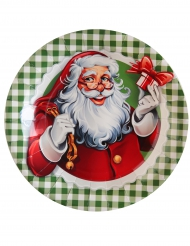 10 Assiettes en carton Il était une fois Noël 23 cm