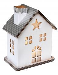 Décoration Maison lumineuse en carton blanc 11,5 x 7,5 x 14 cm