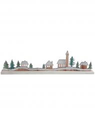 Décoration Village de Noël en bois 45 x 11 x 4 cm
