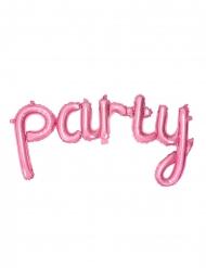 Ballon en aluminium Party rose 80 x 40 cm