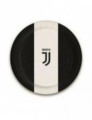 8 Petites assiettes en carton Juventus™ 18 cm