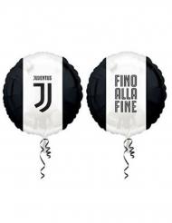Ballon en aluminium Juventus™ noir et blanc 43 cm