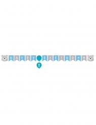 Guirlande en papier Happy Birthday Petit Ours 15,2 cm x 1,92 m
