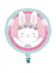 Ballon en aluminium Petit Lapin rose 45,7 cm