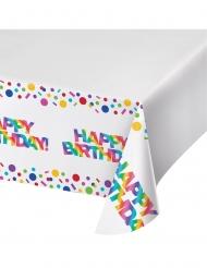 Nappe en plastique Happy Birthday Arc-en-ciel 137 x 259 cm