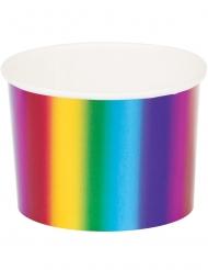 6 Pots en carton Arc-en-ciel 266 ml