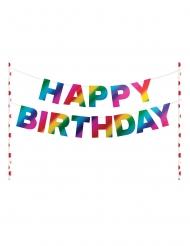 Décoration pour gâteau Happy Birthday arc-en-ciel 22,8 cm
