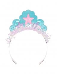 8 Couronnes en carton de Princesse Sirène iridescente