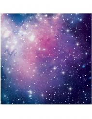 16 Serviettes en papier Galaxy 33 x 33 cm