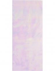 10 Sacs en plastique rose iridescent 29,2 x 12,7 cm