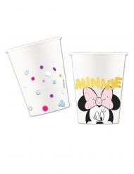 8 Gobelets en carton effet métallique premium Minnie™ 260 ml