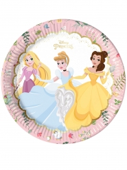 8 Assiettes en carton premium Princesses Disney™ 23 cm