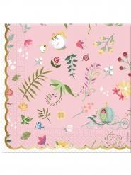 20 Serviettes en papier premium Princesses Disney™ 33 x 33 cm